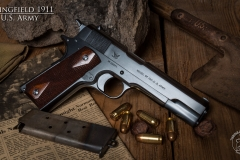 Turnbull restored Springfield 1911 pistol  with charcoal blued frame and slide
