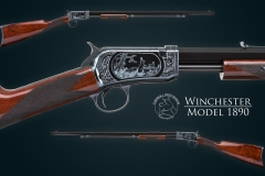 Turnbull restored Winchester 1890 rifle  with charcoal blued receiver