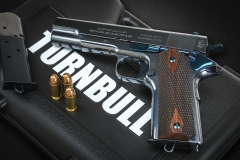 New Turnbull Commercial Model 1911 pistol  with high polish charcoal blued frame and slide