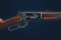Turnbull restored Winchester Model 1886 rifle with charcoal blued receiver