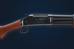Turnbull restored Winchester Model 1897 shotgun with charcoal blued receiver