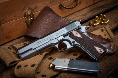 Turnbull restored Colt 1911 pistol  with charcoal blued frame and slide