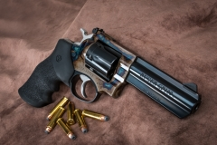 New Turnbull finished Ruger GP100 revolver with color case hardened frame
