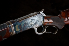 Turnbull restored, converted and upgraded antique Winchester 1886 rifle with color case hardened receiver
