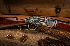 New Turnbull finished Winchester 1871 rifle with color case hardened receiver