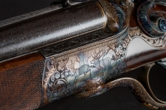 Turnbull restored German double gun with color case hardened action