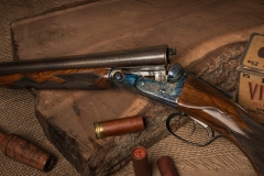 Turnbull restored Parker DHE 10 gauge shotgun with color case hardened action