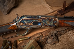 Turnbull restored Winchester 1876 rifle with color case hardened receiver