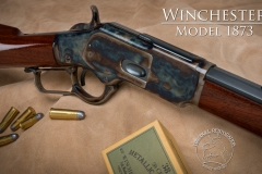 Turnbull restored Winchester 1873 with color case hardened receiver