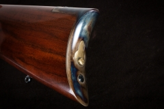 Turnbull restored Winchester 1873  with color case hardened butt plate