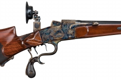 Turnbull restored German schuetzen rifle  with color case hardened action