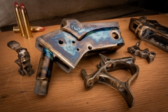 Thompson/Center receiver parts color case hardened by Turnbull Restoration for Haus of Arms