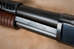 Turnbull restored Winchester Model 1897 shotgun's rust blued barrel and magazine tube