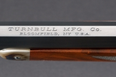 New Turnbull Model 1886 rifle's rust blued barrel