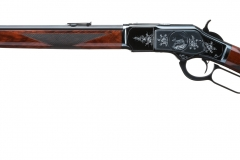Turnbull restored Winchester 1873  with rust blued barrel and magazine tube