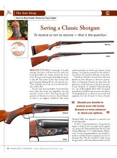 Pheasants Forever - Saving a Classic Shotgun