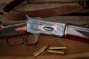 New build Turnbull Model 1886 lever action rifle in 45-70 with color case hardened and engraved receiver