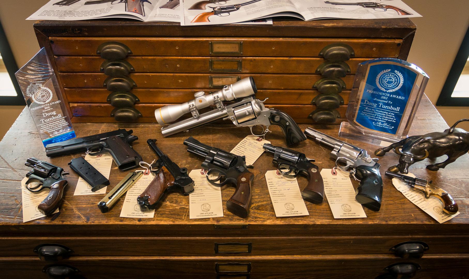 Handgun collection brought in through Turnbull trade-in program