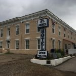 Exterior photo of St. James Hotel in Cimarron, New Mexico