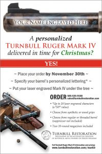 Personalized Turnbull Ruger Mark IV by Christmas Promotional Flyer