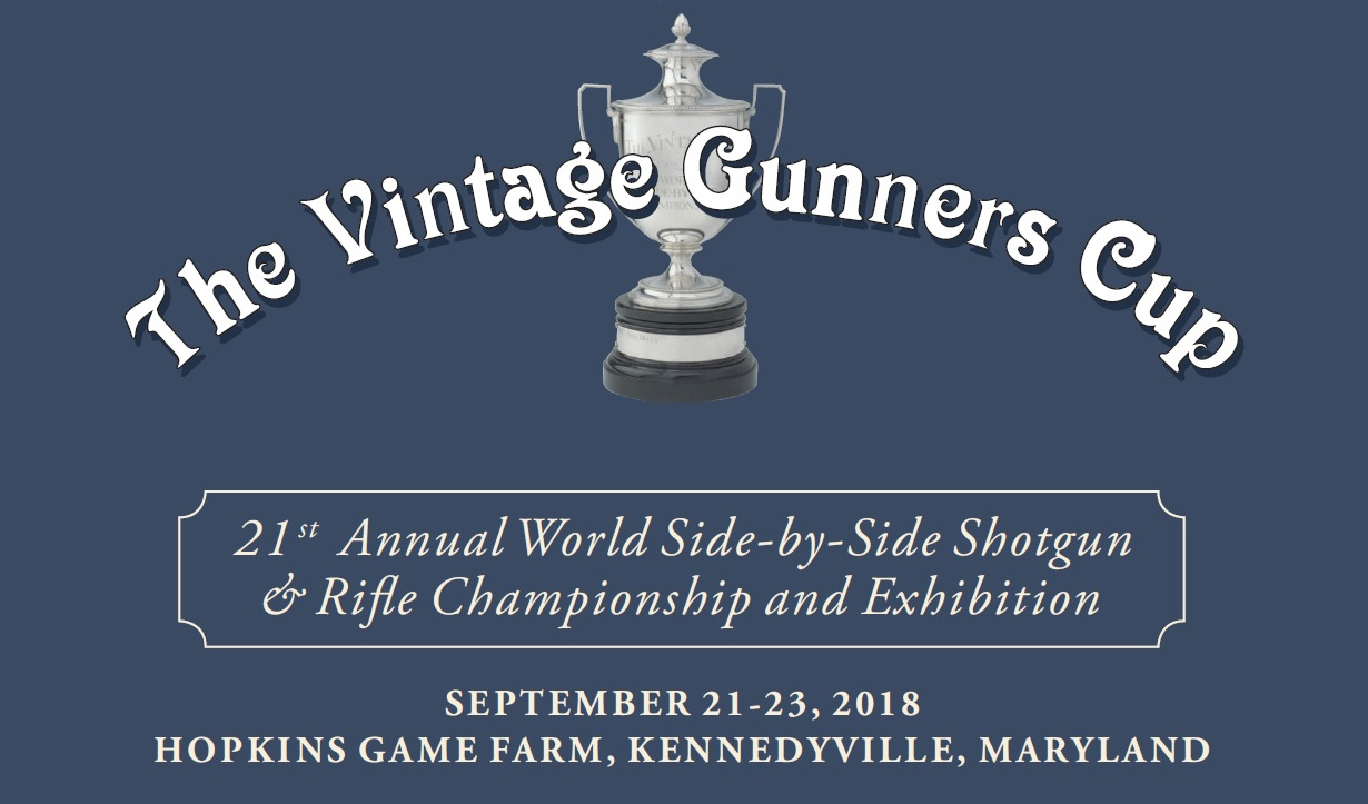 Banner for 2018 Vintage Gunners Cup World Side-by-Side Championship & Exhibition
