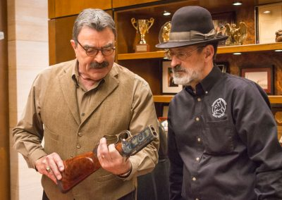 Tom Selleck and Doug Turnbull Inspect Tom's restored Winchester 1886