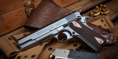 Photo of a Colt Model 1911, restored by Turnbull Restoration