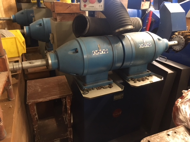ARCOS 2TS/B two heads grinding machine with three power units and electronic speed variation