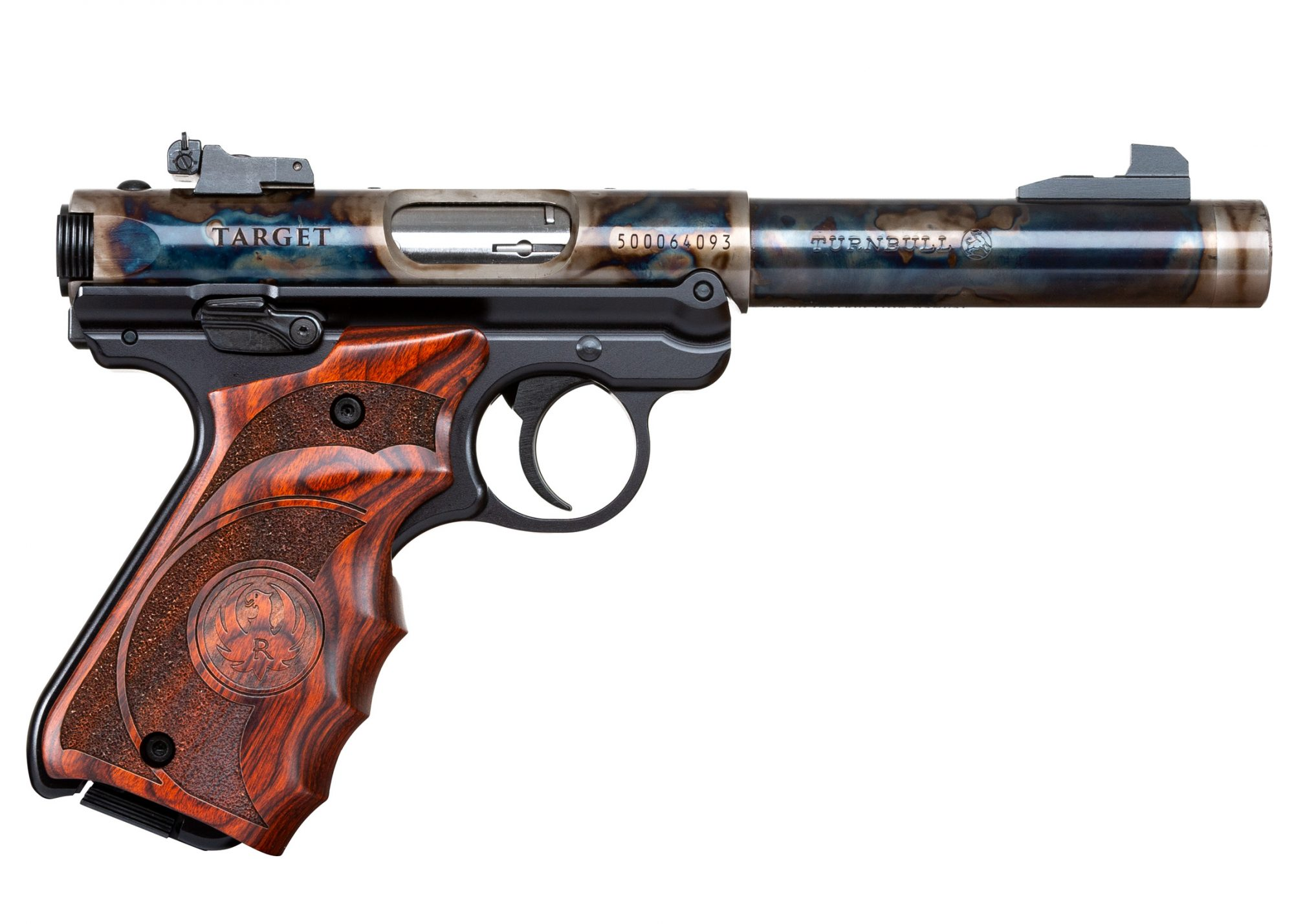 Turnbull Finished Ruger Mark IV with Wood Grips and Threaded Barrel