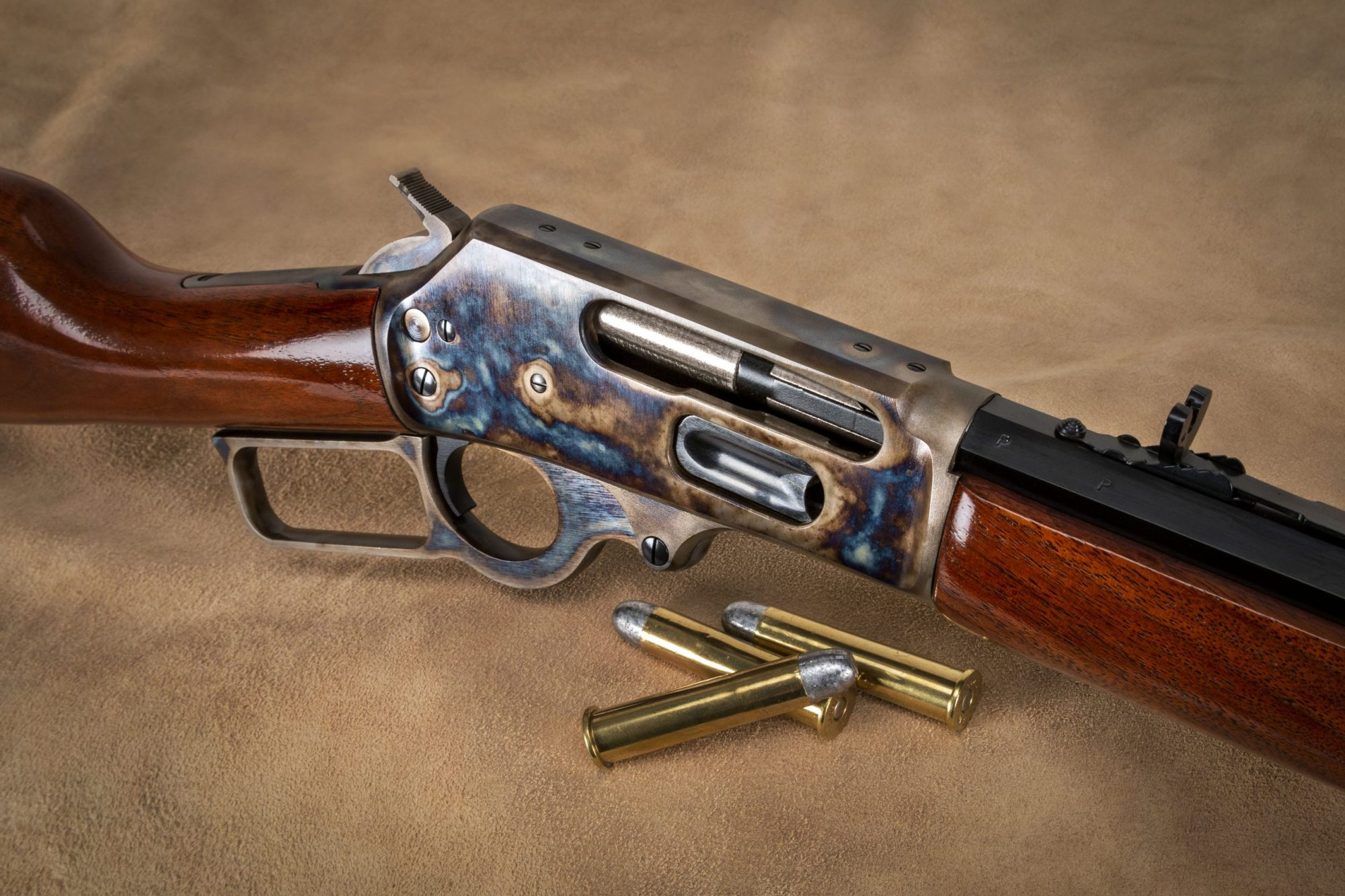 Turnbull Finished Marlin 1895CB featuring Turnbull traditional color case hardening