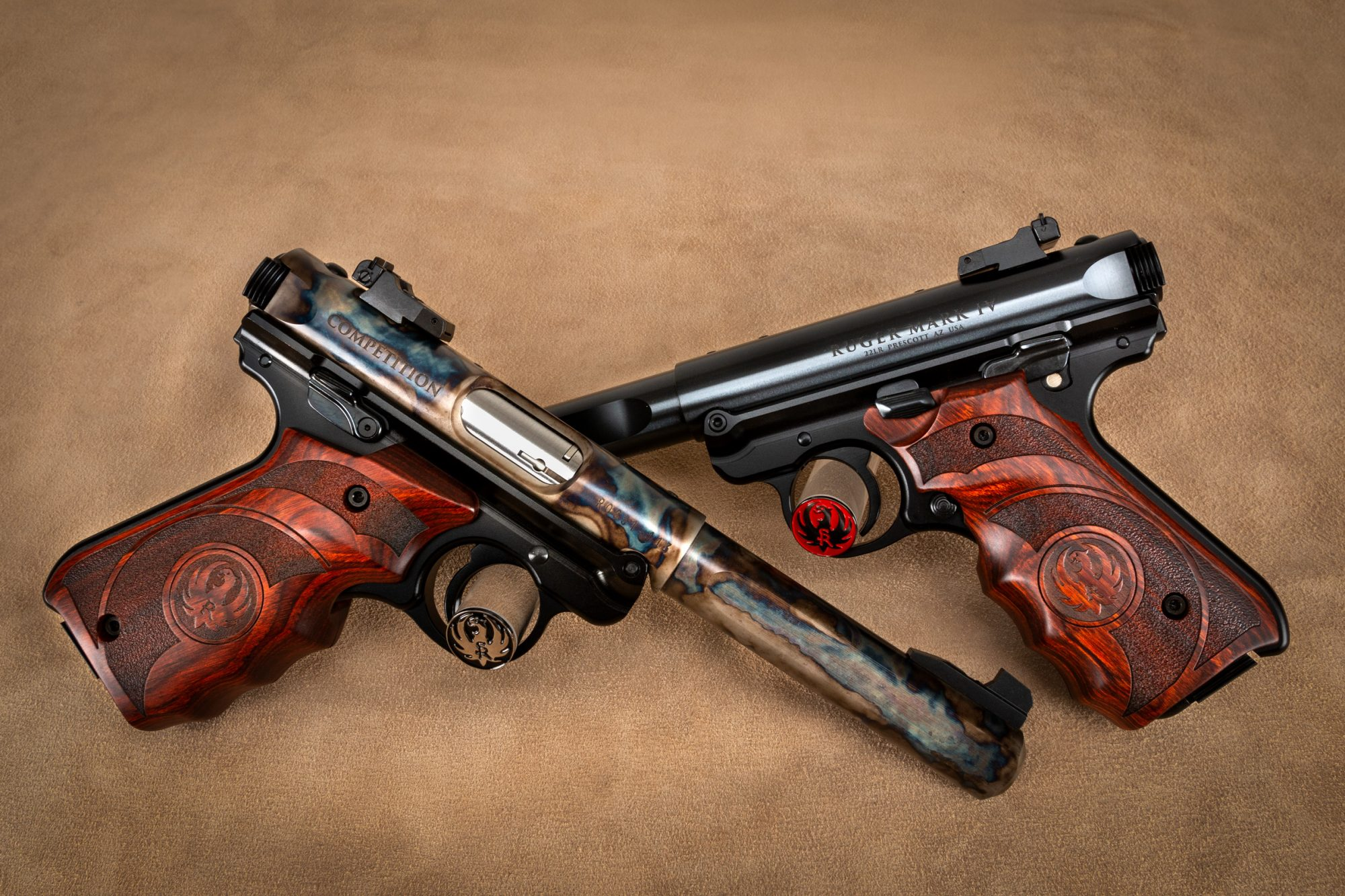 Turnbull ROCS Ruger Mark IV color case hardened and factory blued pair