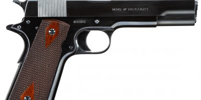 Colt 1911 U.S. Navy from 1912 restored by Steve Moeller and charcoal blued by Turnbull Restoration