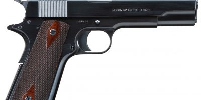 Colt 1911 U.S. Army from 1912 restored by Steve Moeller and charcoal blued by Turnbull Restoration
