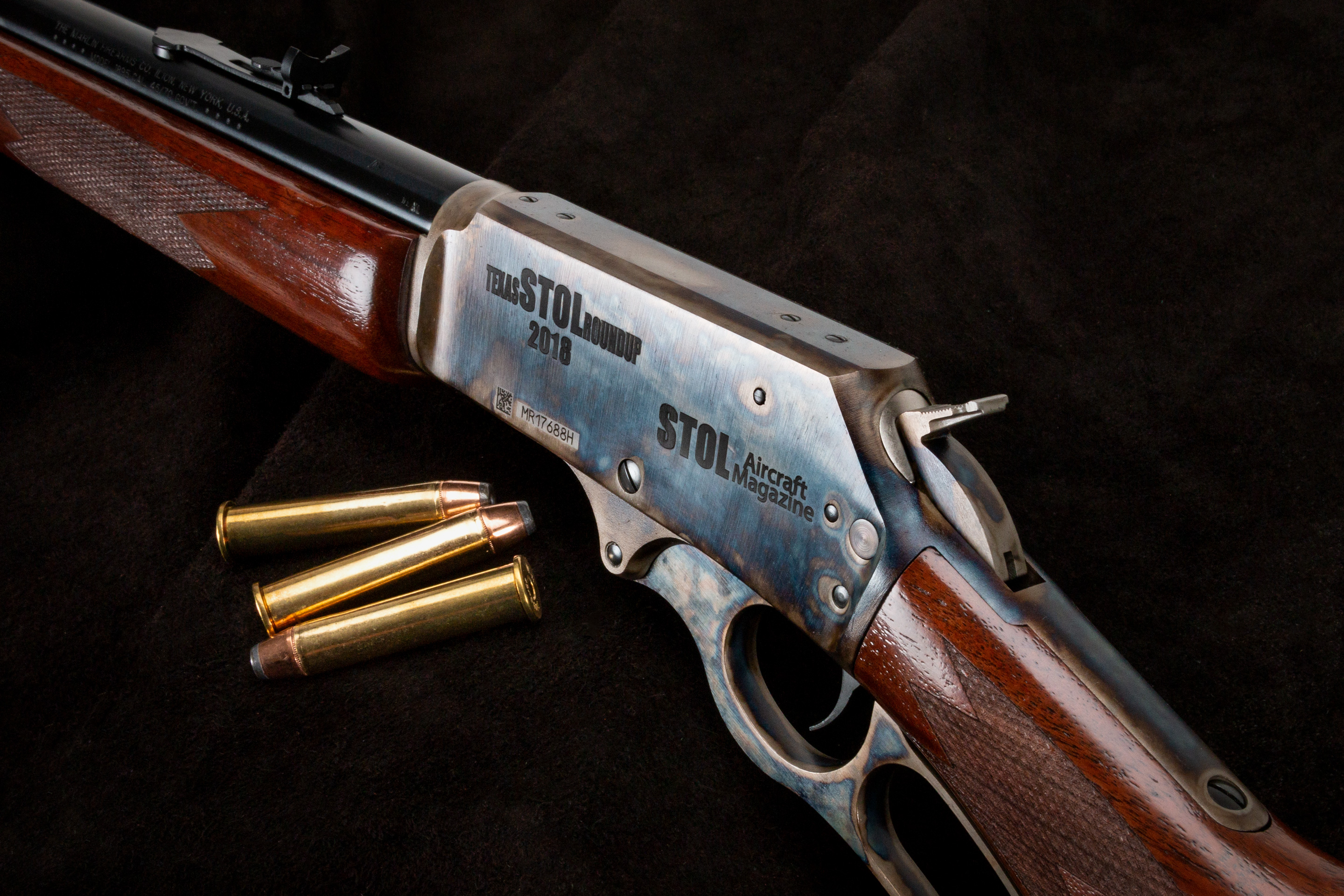 Turnbull Marlin 1895 engraved for STOL Aircraft Magazine and Texas STOL Roundup