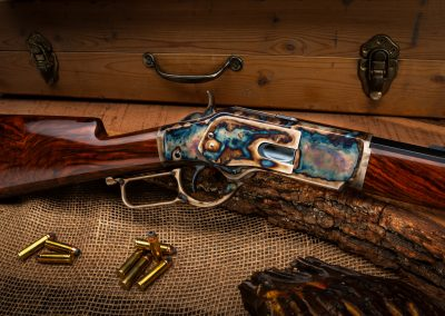 Color case hardened Turnbull Winchester 1873 with exhibition grade English walnut stocks