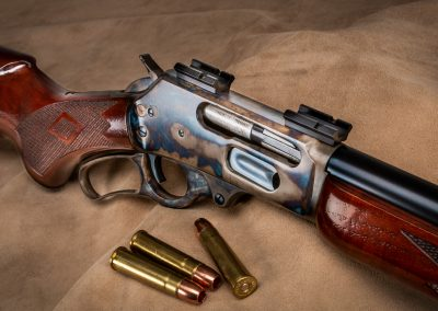 Photo of Turnbull Finished Marlin 1895 in .470 Turnbull featuring color case hardened action and rust blued barrel