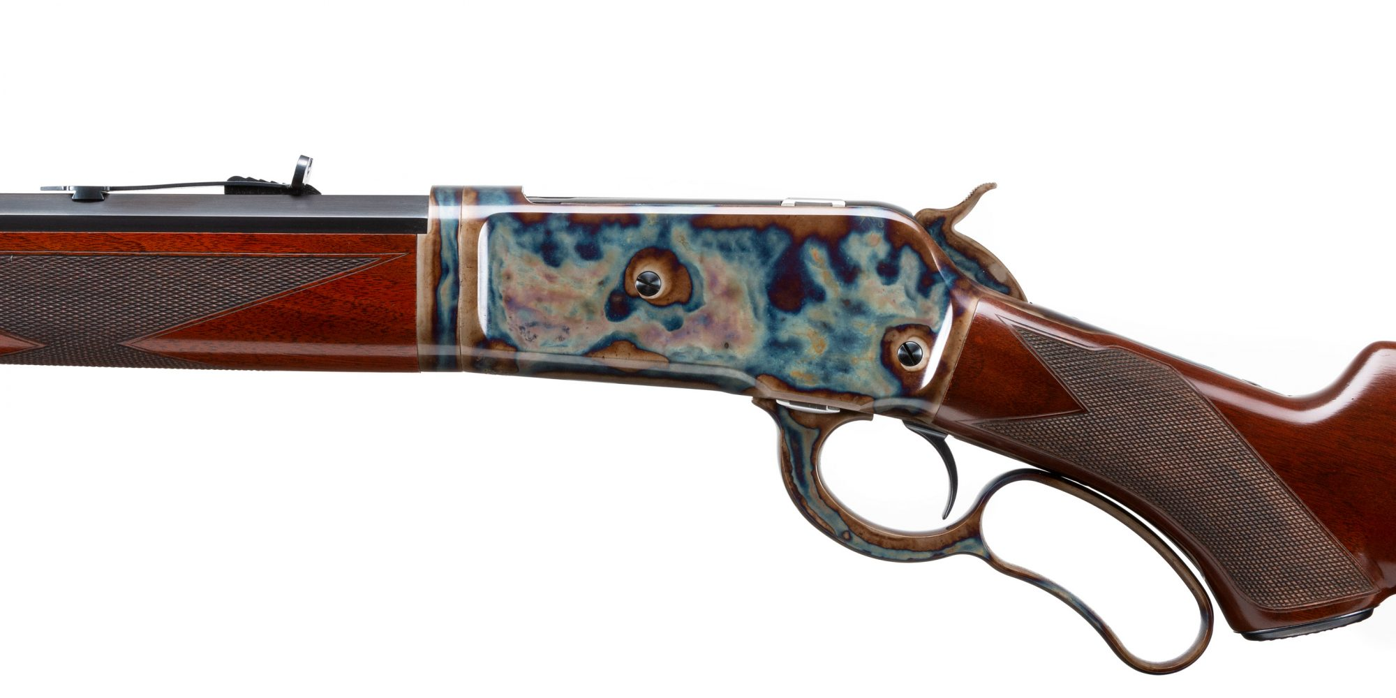 "Photo of Winchester 1886 18"" Takedown with Turnbull Restoration finishes"