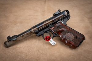 Photo of Ruger Mark IV Target featuring Turnbull Restoration color case hardened barrel