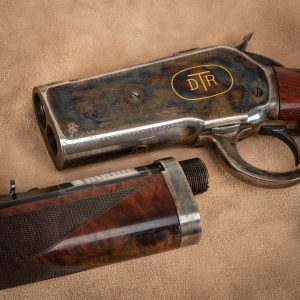 Takedown detail, photo of Doug Turnbull's personal Winchester Model 1886 , 10 years from restoration