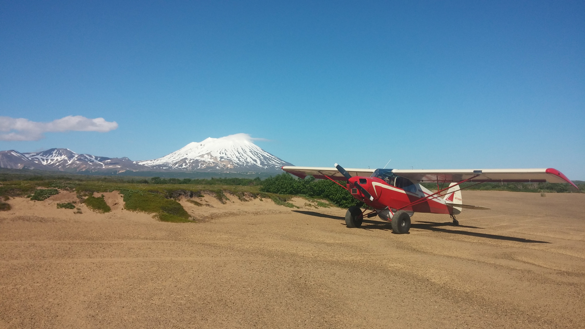 Photo of Doug Turnbull's PA12 Super Cruiser plane in Alaska