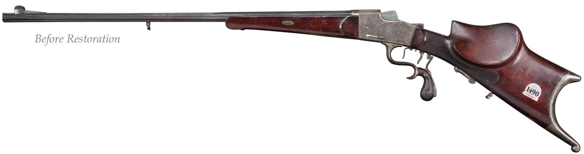 German gun, originally manufactured in the 1920s, before restoration by Turnbull Restoration