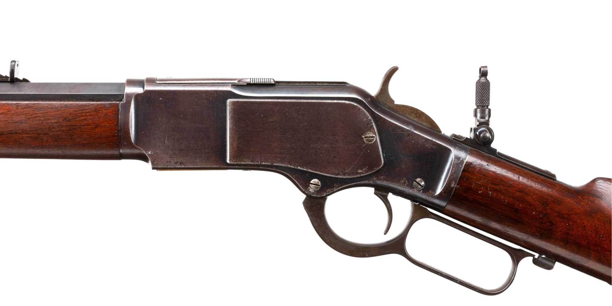 Photo of an antique Winchester Model 1873, for sale through Turnbull Restoration
