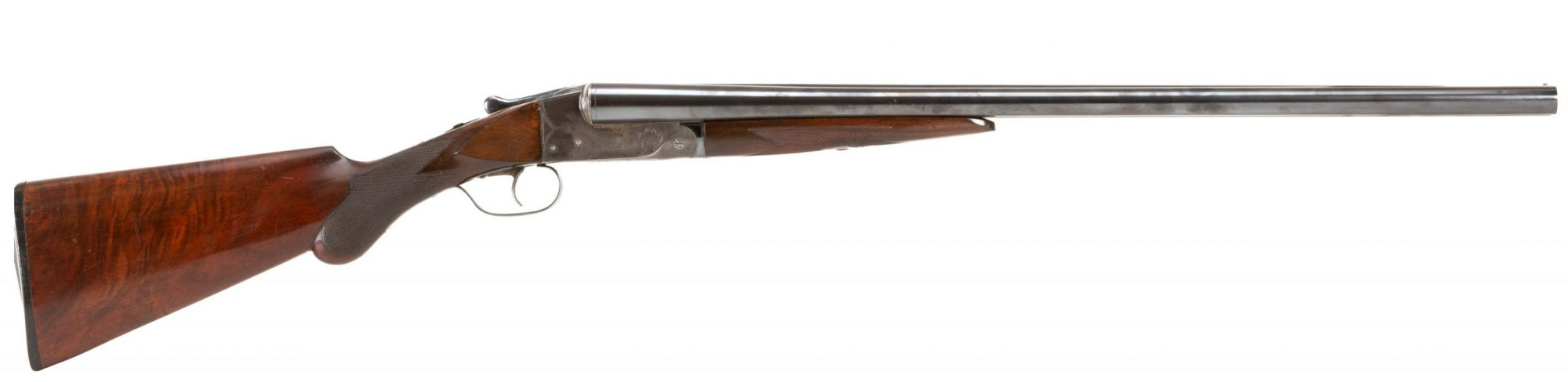 Photo of pre-owned Ithaca Double 12 gauge shotgun, sold as-is by Turnbull Restoration