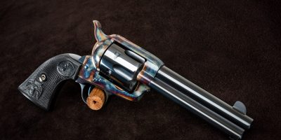 Photo of a restored Colt Frontier Six Shooter Single Action, featuring period-correct metal finishes by Turnbull Restoration