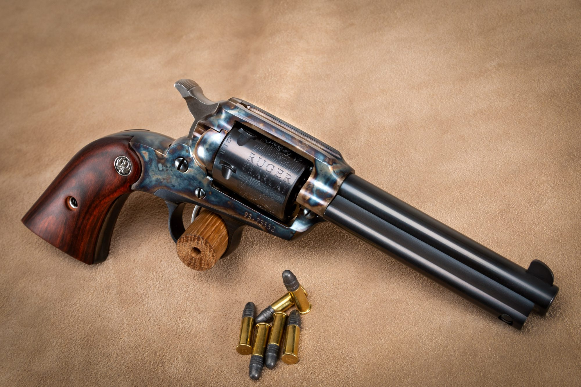 Photo of a Ruger New Bearcat with bone charcoal color case hardening by Turnbull Restoration