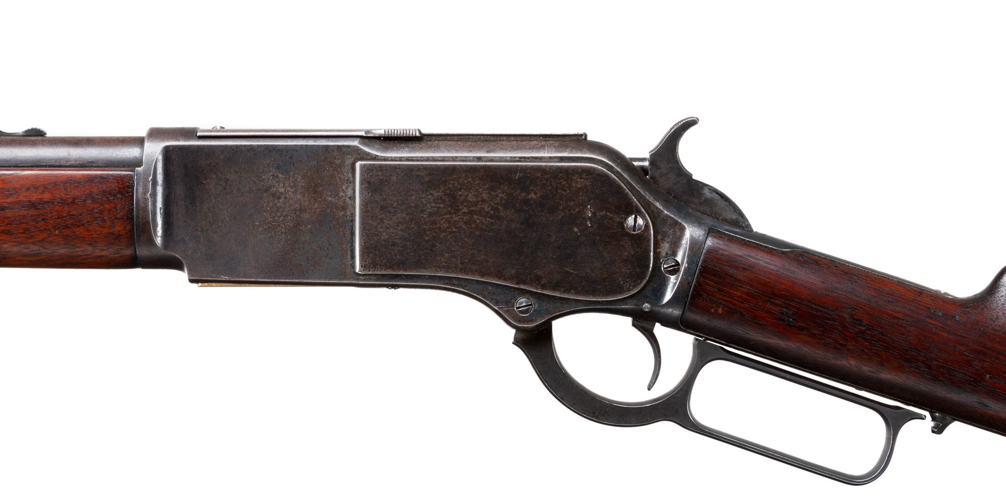 Photo of an antique Winchester Model 1876 from 1881, sold as-is by Turnbull Restoration