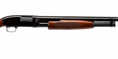 Photo of a pre-owned Winchester Model 12 pump action 12 gauge shotgun, sold as-is by Turnbull Restoration