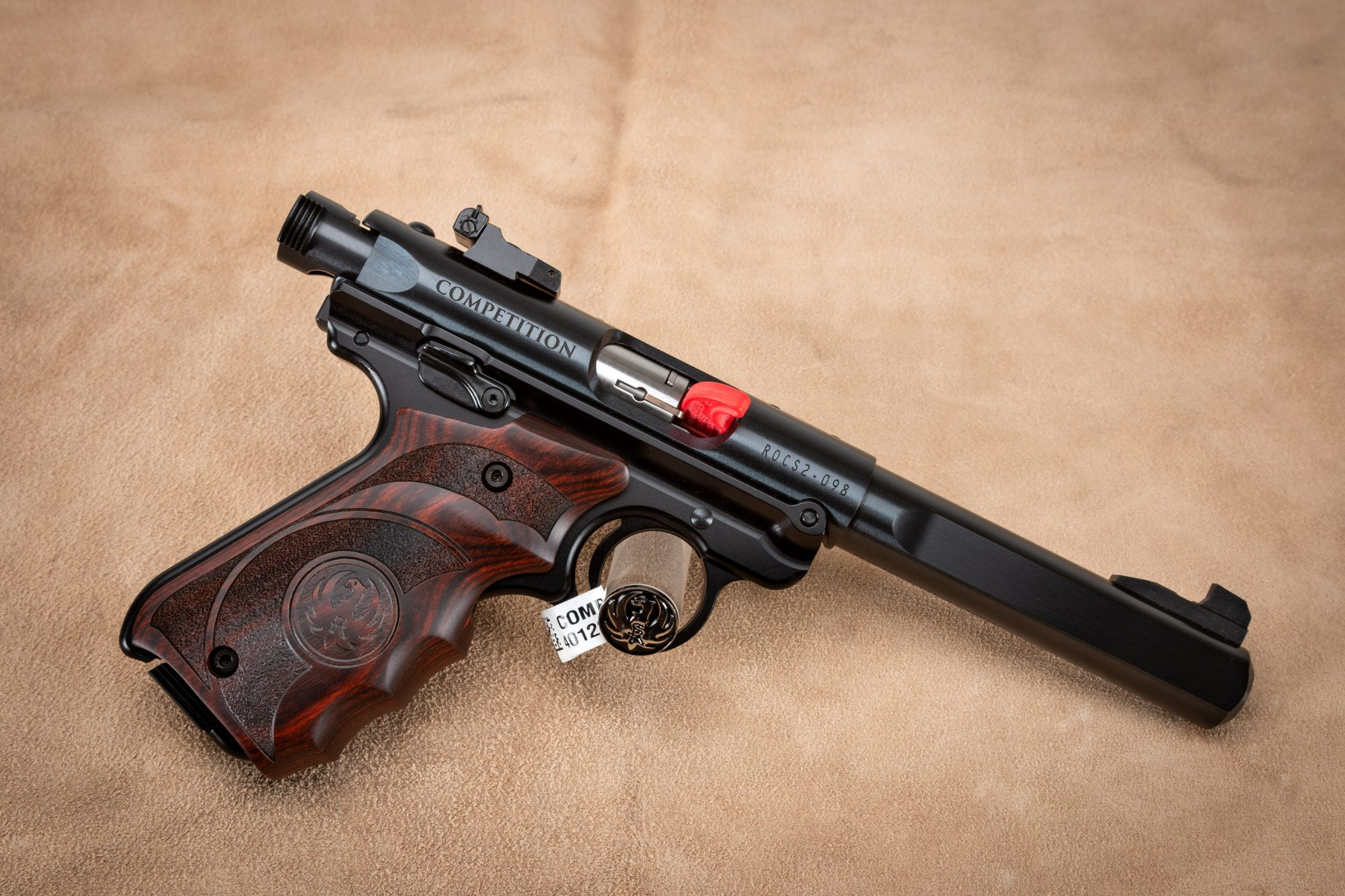 Photo of a Turnbull Ruger ROCS 5 Mark IV with factory blued barrel