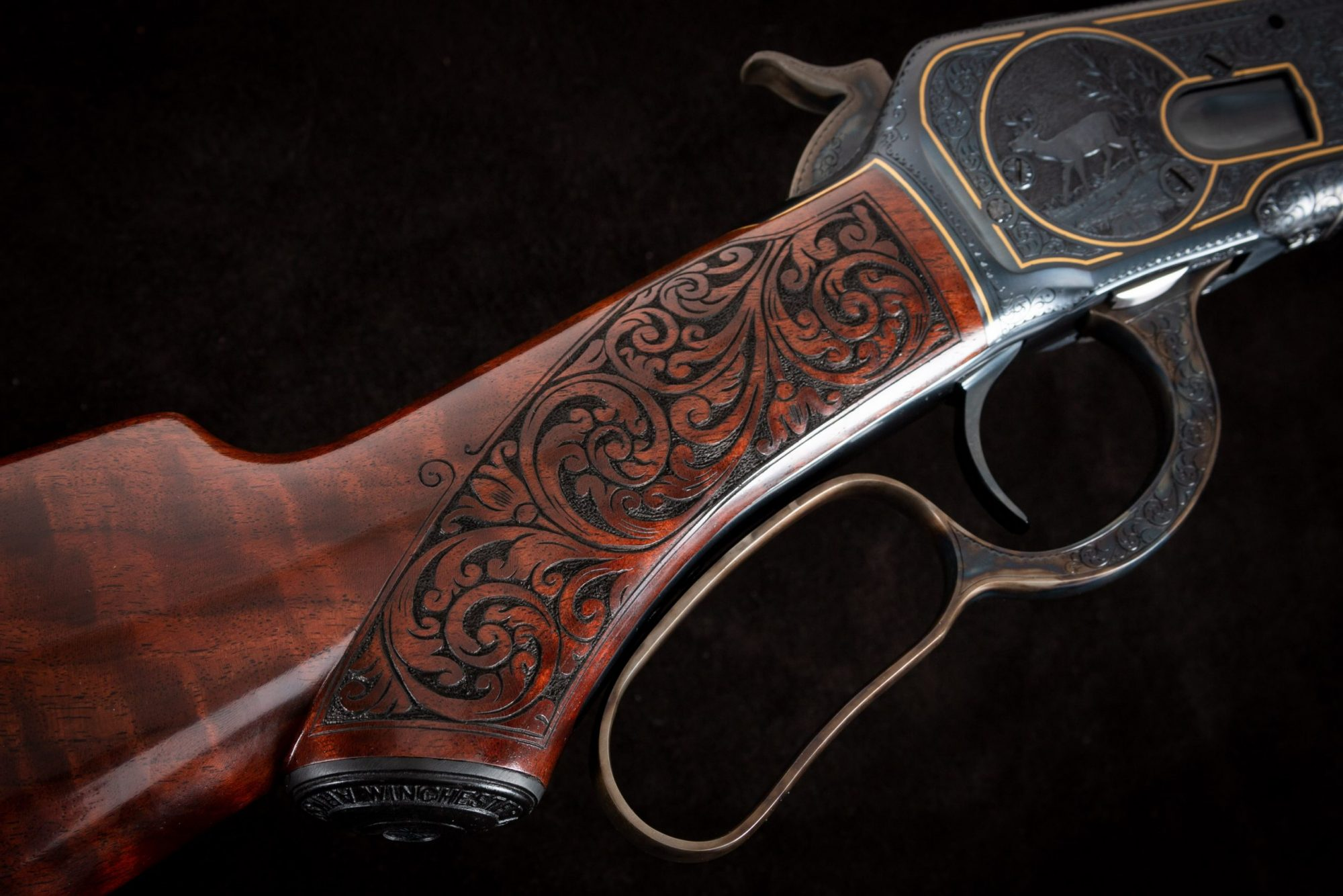 Photo of a fully restored Winchester Model 1892 from 1914, performed by Turnbull Restoration in Bloomfield, NY
