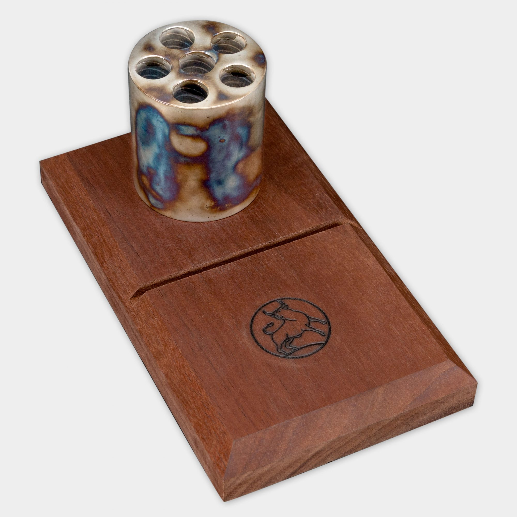 Photo of a Turnbull Restoration color case hardened pen holder